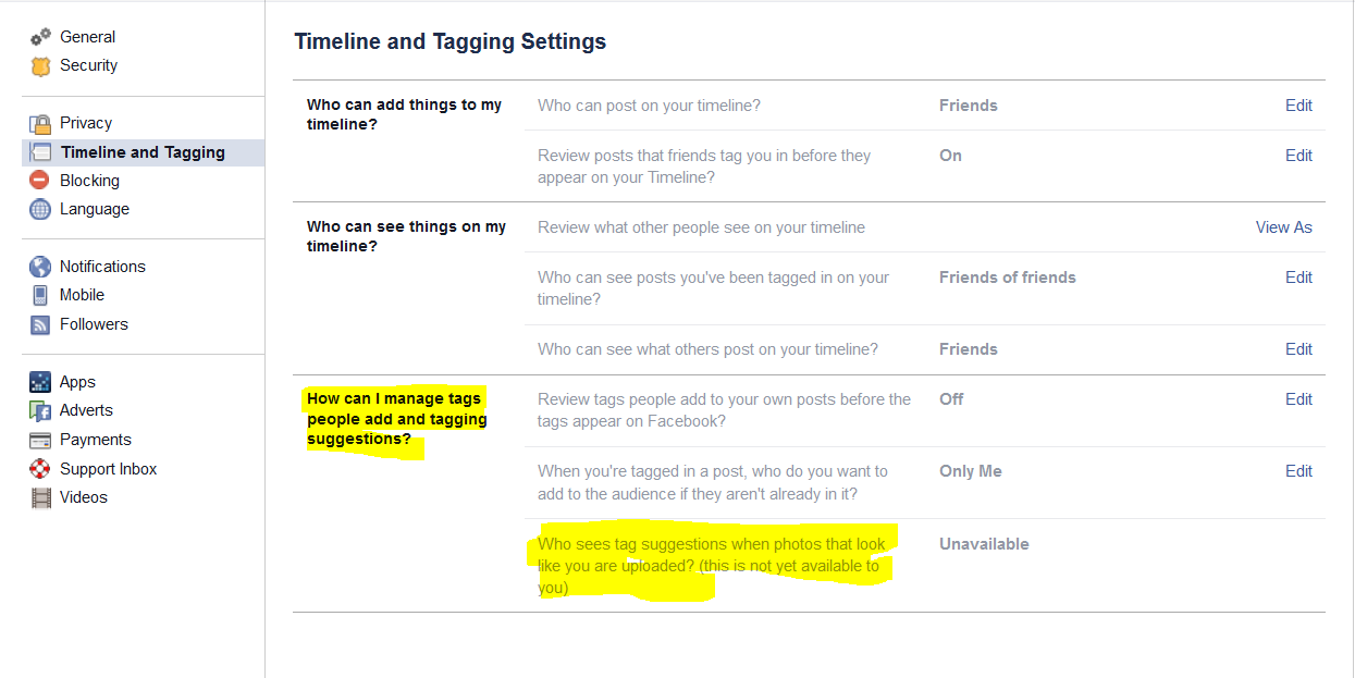 FB Photo Magic screenshot settings