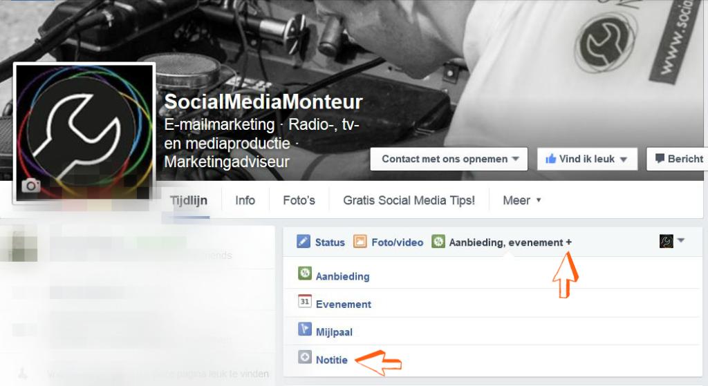 Blog SMM 2FEB16 - Notities Screenshot FB