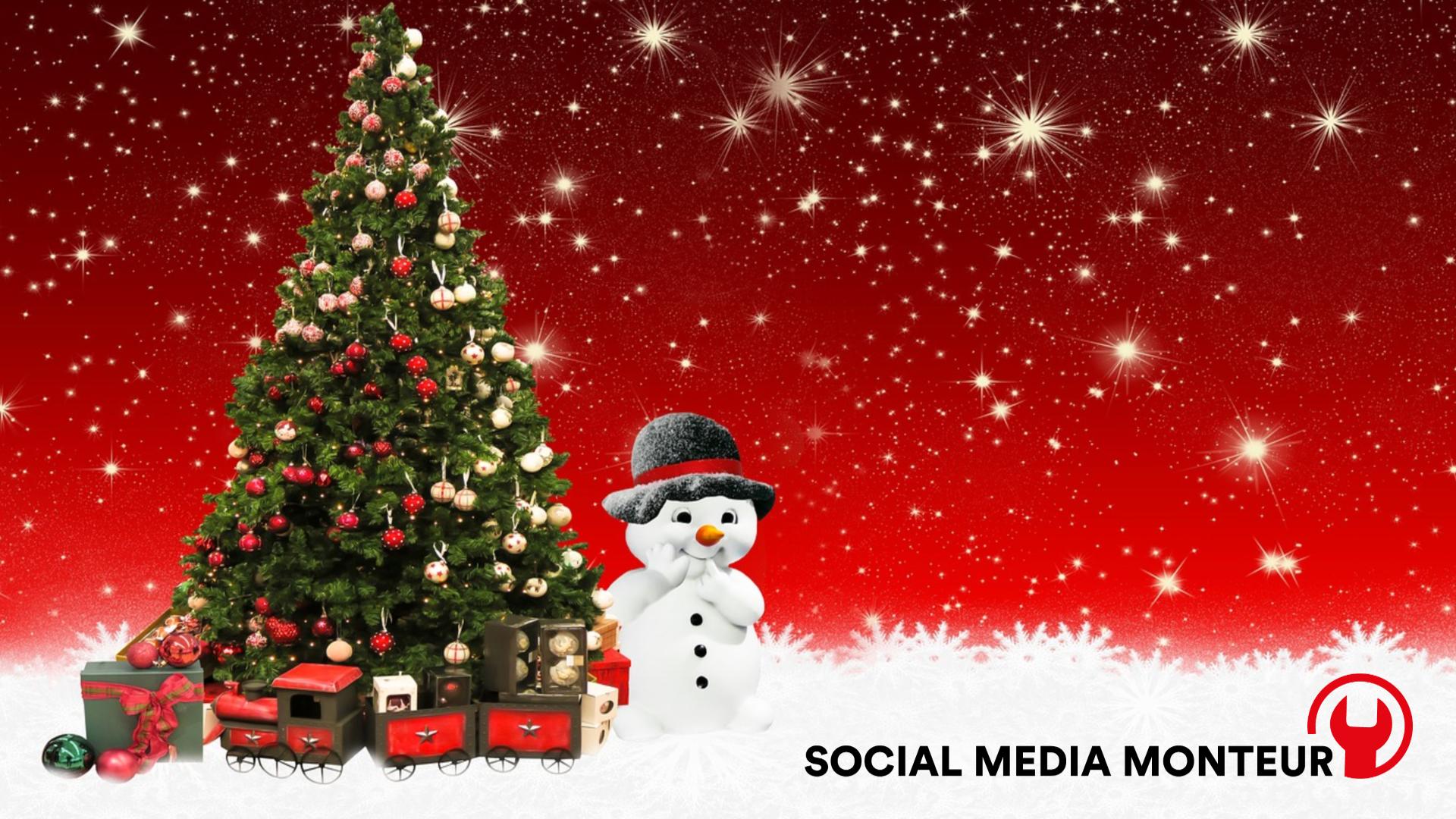 Prettige Feestdagen En Een Gelukkig Nieuwjaar Socialmediamonteur