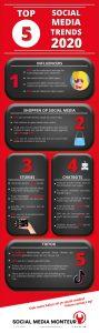 Infographic top 5 socialmedia trends